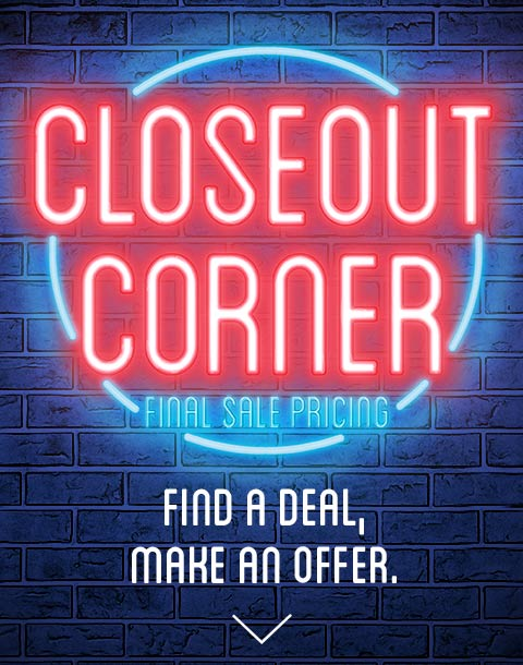 Closeout Corner Deep Discounts On Previously Rented Merchandise