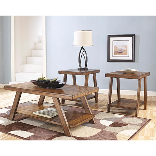 Living Room Furniture Canada: Rent To Own Ashley Bradley 3-Piece Coffee Table Set