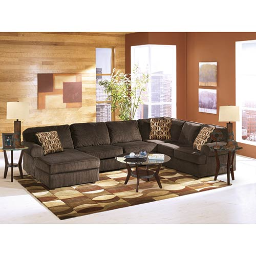 Ashley Vista Chocolate 3 Piece Sectional