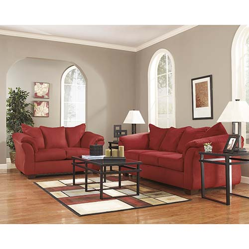 Rent To Own Ashley Darcy Salsa Sofa And Loveseat