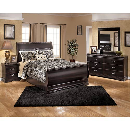 Rent Ashley Furniture Esmarelda 6 Piece Queen Bedroom Set