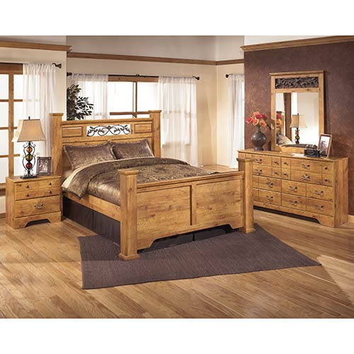 Rent Ashley Furniture Bittersweet 6 Piece Queen Bedroom Set