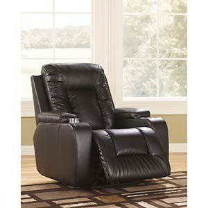 "Ashley ""Matinee DuraBlend-Eclipse"" Power Recliner"
