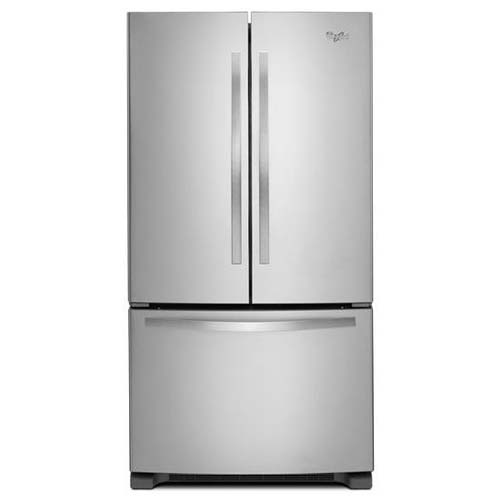 Whirlpool® 22 Cu. Ft. Bottom Mount Refrigerator with French Doors – Stainless Steel