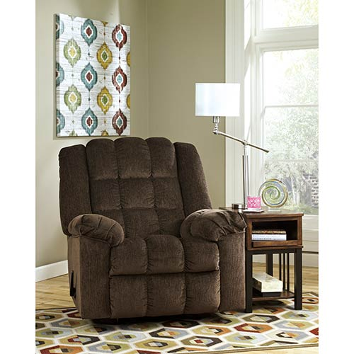 Rent An Ashley Furniture Ludden Cocoa Rocker Recliner