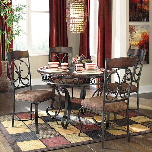 "Rent To Own Ashley ""Glambrey"" 5-Piece Dining Set"