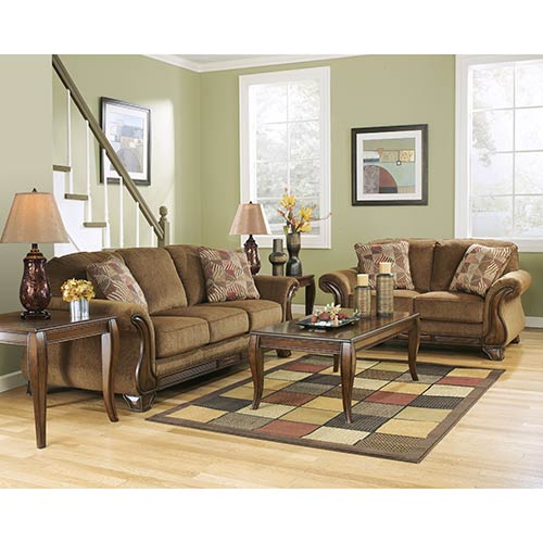 "Signature Design by Ashley ""Montgomery-Mocha"" Sofa and Loveseat"