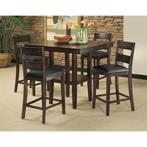 "Standard ""Pendleton"" 5-Piece Counter Height Dining Set"