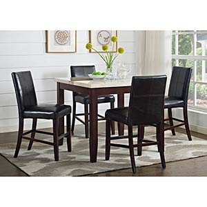 "Powell ""Bray II"" Counter-Height 5-Piece Dining Set"