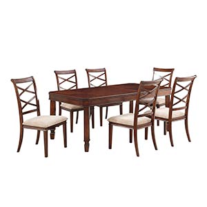 "Powell ""Pierce"" 7-Piece Dining Set"