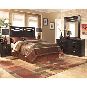 "Signature Design by Ashley ""X-cess"" 5-Piece Queen Bedroom Group"