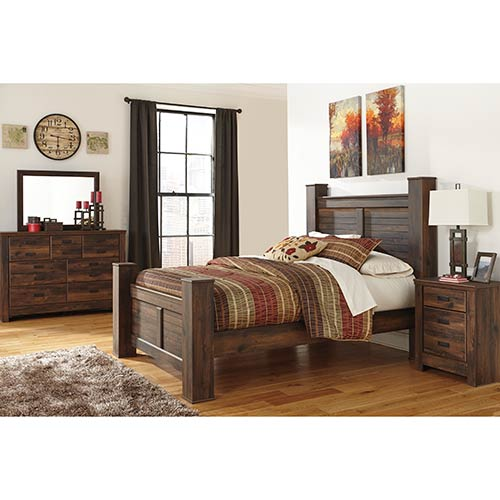 Rent an Ashley \'Quinden\' 7-Piece Queen Bedroom Set