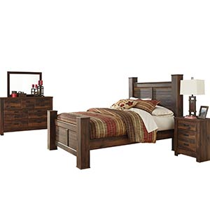 "Signature Design by Ashley ""Quinden"" 7-Piece Queen Bedroom Group"
