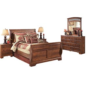 "Signature Design by Ashley ""Timberline"" 7-Piece Queen Bedroom Group"
