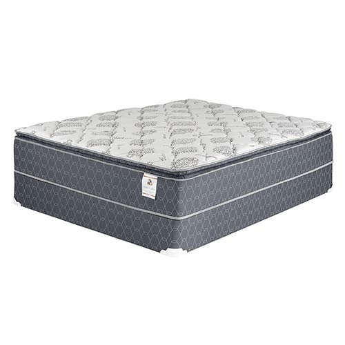 "Sterling & Thomas ""Covington"" Luxury Pillow Top Queen Mattress and Foundation"