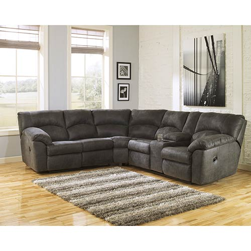 Signature Design By Ashley Tambo Pewter 2 Piece Sectional Room View