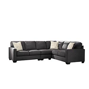 "Signature Design by Ashley ""Alenya-Charcoal"" 3-Piece Sectional"