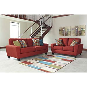 "Signature Design by Ashley ""Sagen-Sienna"" Sofa and Loveseat"