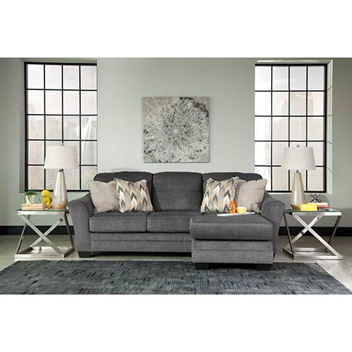 rent benchcraft 39 braxlin charcoal 39 chaise sofa On rent to go furniture