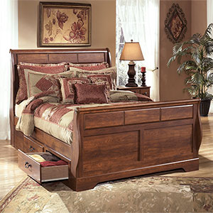 Signature Design by Ashley Timberline 4-Piece Queen Bed with Storage- Room View