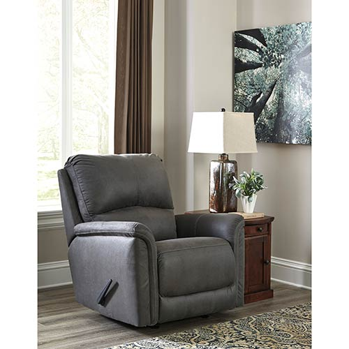 Signature Design by Ashley Ranika-Gray Rocker Recliner- Room View