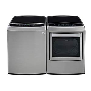 LG 4.9 Cu. Ft. Front Control Capacity Washer and 7.3 Cu. Ft. Front Control Electric Dryer