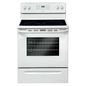 Frigidaire 5.3 Cu. Ft. Freestanding Glass-Top Electric Range – White