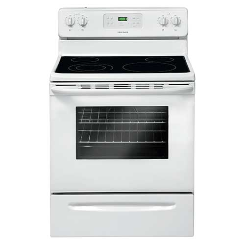 Frigidaire White 5.3 Cu. Ft. Glass-Top Electric Range