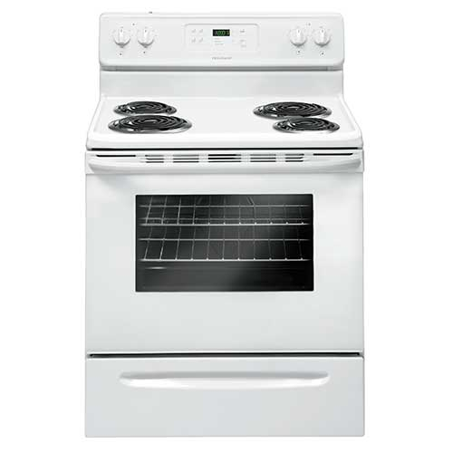 Frigidaire White 5.3 Cu. Ft. Coil-Top Electric Range
