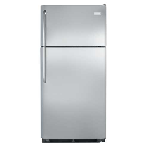 Frigidaire 18 Cu. Ft. Top Mount Refrigerator – Stainless Steel