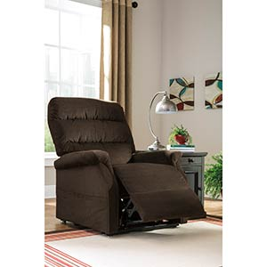 "Signature Design by Ashley ""Brenyth-Chocolate"" Power-Lift Recliner"