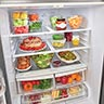 LG Stainless 21.8 Cu. Ft. French Door Refrigerator- Open Door 2