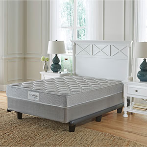Sierra Sleep Silver Limited Queen Mattress and Split Foundation- Room VIew
