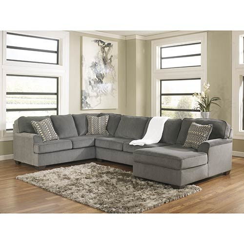 Rent ashley 39 loric smoke 39 3 piece sectional for 8 piece living room furniture