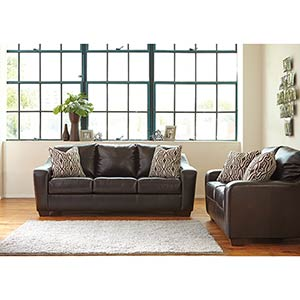 "Benchcraft ""Coppell Durablend®-Chocolate"" Sofa and Loveseat"