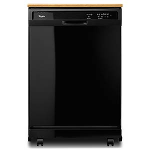 Whirlpool® Portable Dishwasher – Black