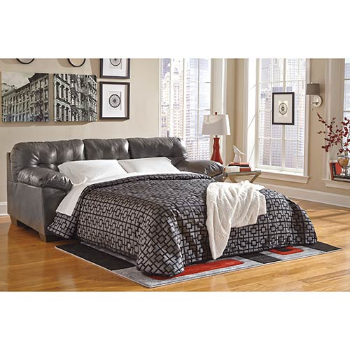 half off 40d4e be6f0 Rent-to-Own Ashley Gray Alliston Durablend Sofa Sleeper for ...