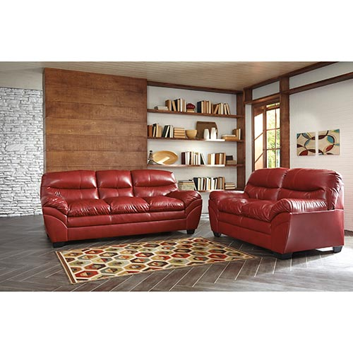 Living Room Sets Rent To Own rent to own ashley tassler durablend-crimson sofa and loveseat