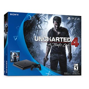 Sony PlayStation 4 Slim 500GB- Uncharted 4 Bundle