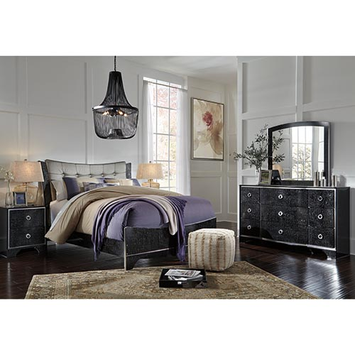 Rent Ashley \'Amrothi\' 7-Piece Queen Bedroom Set
