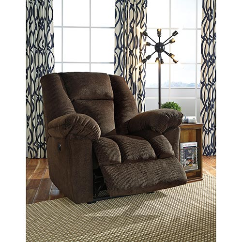 Signature Design by Ashley Nimmons-Chocolate Power Recliner- Room View