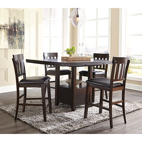 Rent To Own An Ashley Haddigan 5-Piece Dining Set D596-4
