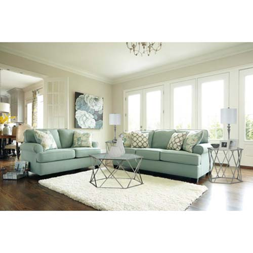 Signature Design by Ashley Daystar-Seafoam 7-Piece Living Set Room View