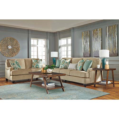 Signature Design by Ashley Lochian 7-Piece Living Room Set Room View