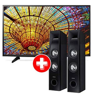 LG 49 inch 4K UHD LED Smart TV + Samsung Tower Speaker