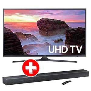 Samsung 55 inch 4K UHD LED Smart TV + Samsung Soundbar