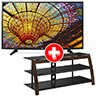 LG 49 inch 4K UHD LED Smart TV + Powell TV Stand