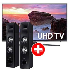 Samsung 55 inch 4K UHD LED Smart TV + Samsung Tower Speaker