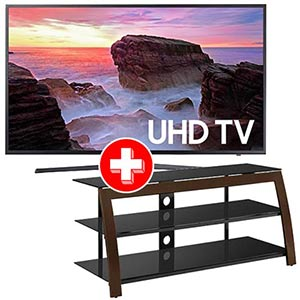 Samsung 55 inch 4K UHD LED Smart TV + Powell TV Stand