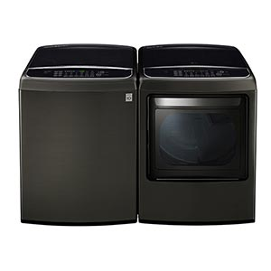 LG 5.0 Cu. Ft. Top Load Washer and 7.3 Cu. Ft. Electric Dryer
